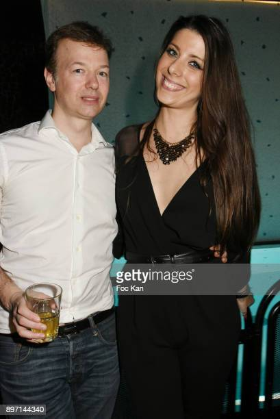 Temps Retrouve organizer Louis de Caisans and Florence Precy attend the 'Le Temps Retrouve' Party 2 At Les Bains In Paris on December 21 2017 in...