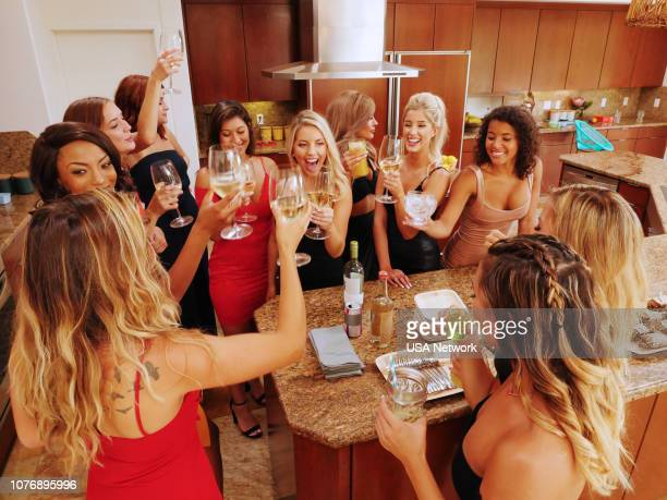 ISLAND Temptation Begins Episode 101 Pictured Kayla Essex Rachael Boerner Tara Oslick Erica Steinhauer Katheryn Golden Sheldyn Stack Hannah Rightmire...