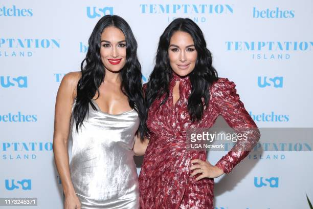 ISLAND Temptation Island Watch Party Pictured Nikki Bella Brie Bella at the Highlight Room at Dream Hotel in Hollywood CA on October 2 2019