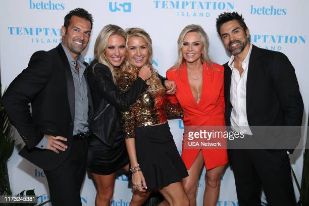 ISLAND Temptation Island Watch Party Pictured Sean Burke Braunwyn WindhamBurke Real Housewives of Orange County Kary Brittingham Real Housewives of...