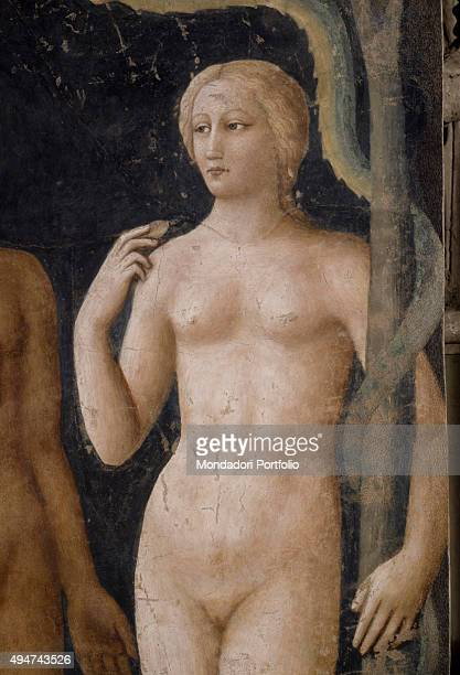 Temptation of Adam and Eve by Masolino da Panicale 14241425 15th Century fresco 260 x 88 cm Italy Tuscany Florence Church of Santa Maria del Carmine...