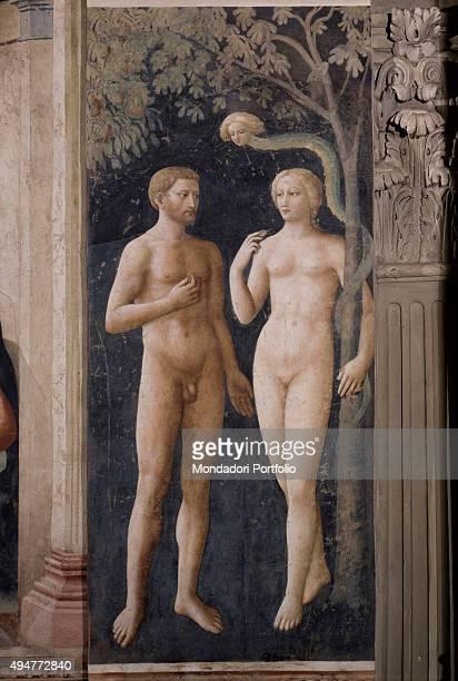 Temptation of Adam and Eve by Masolino da Panicale 14241425 15th Century fresco 260 x 88 cm Italy Tuscany Florence Church of Santa Maria del Carmine...