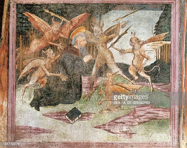 Temptation of St Anthony fresco San Rocco Oratory Borgovalsugana Italy 15th century