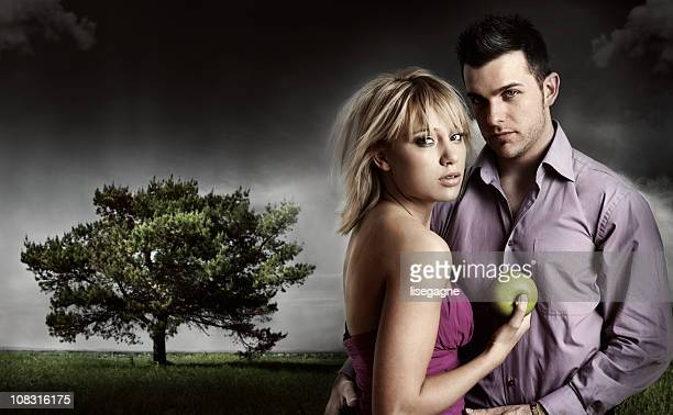 temptation - garden of eden old testament stock photos and pictures
