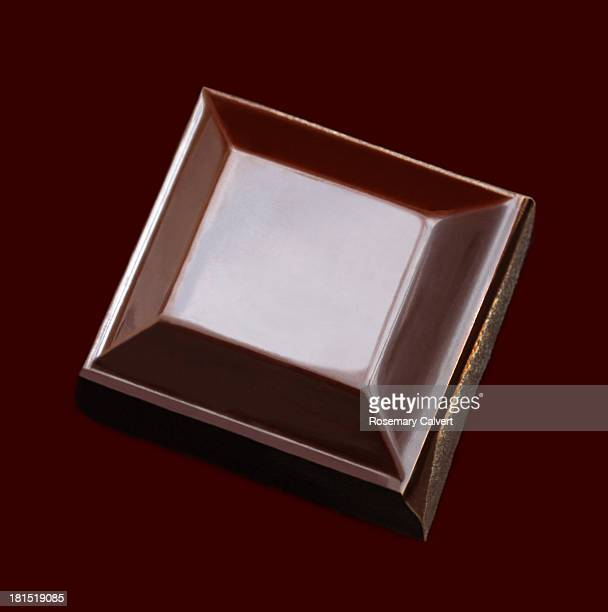 Tempting square of rich dark chocolate