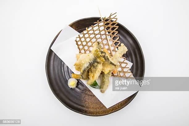tempura baby ayu (sweet fish) - 天ぷら ストックフォトと画像