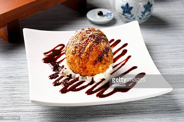tempura ice cream - fried stock pictures, royalty-free photos & images
