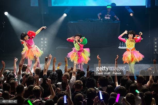 Tempura Kidz perform at Le Trianon on October 3, 2015 in Paris, France.