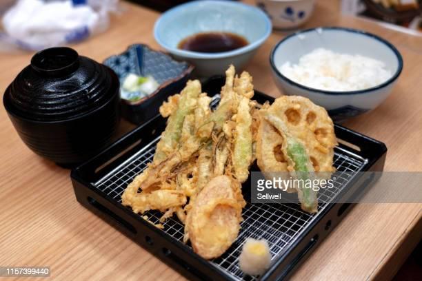 tempura meal - 天ぷら ストックフォトと画像