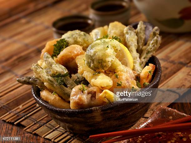 野菜の天ぷら - 天ぷら ストックフォトと画像