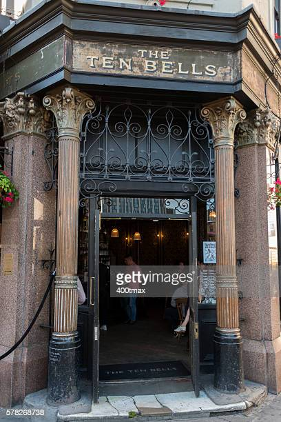 ten bells pub - jack the ripper stock photos and pictures