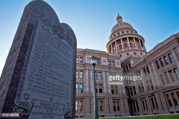 ten commandments in texas - ten commandments stock photos and pictures
