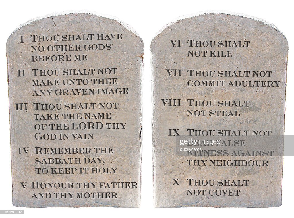 photograph relating to 10 Commandments Kjv Printable titled 10 Commandments Top quality Illustrations or photos, Pictures, Visuals - Getty