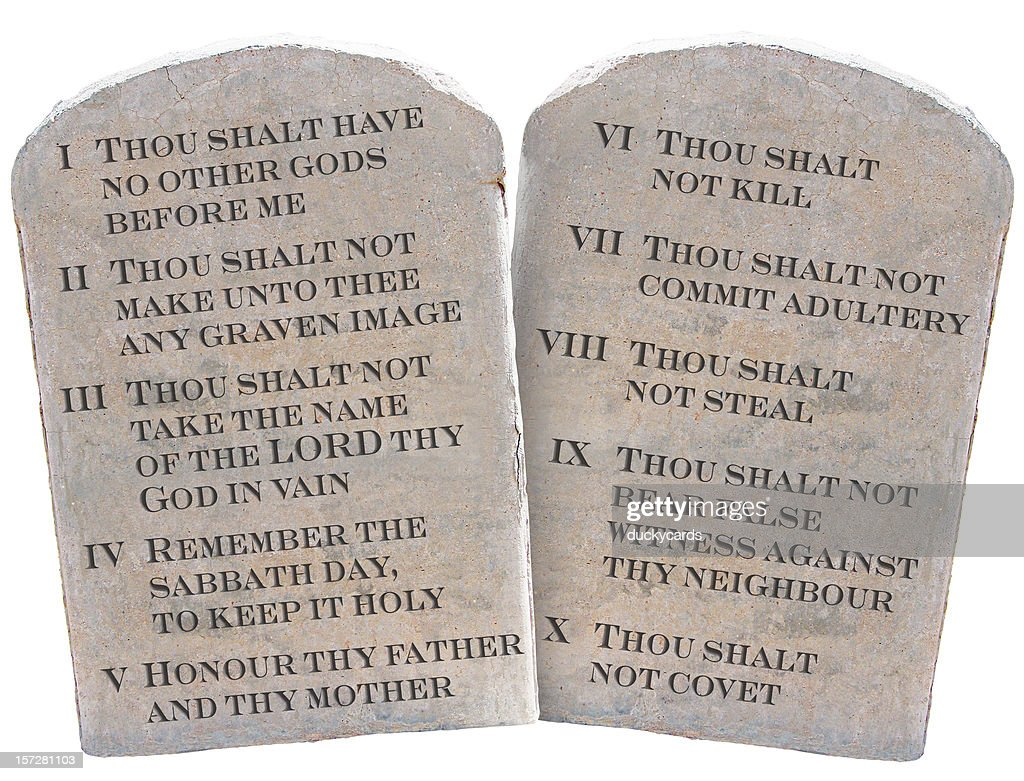 picture about 10 Commandments Kjv Printable titled 10 Commandments Quality Photographs, Photographs, Illustrations or photos - Getty