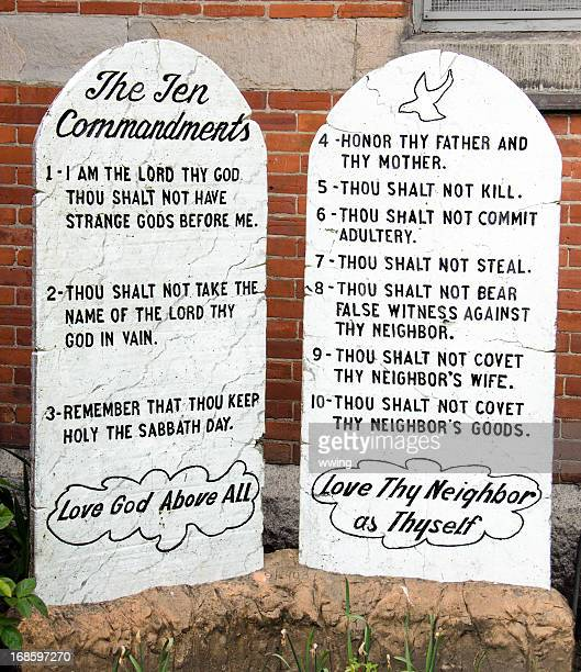 ten commandments - old testament stock pictures, royalty-free photos & images