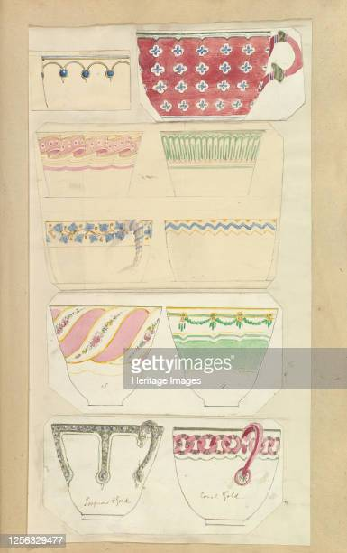 Ten Designs for Decorated Cups 184555 Artist Alfred Crowquill