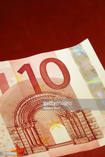 Ten Euro note close-up