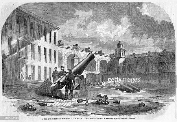A Ten Inch Columbiad Mounted as a Mortar at Fort Sumter