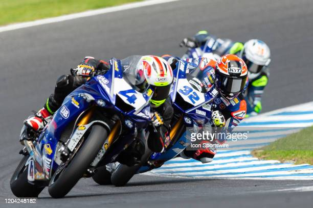 Ten Kate Racing rider Steven Odendaal leading the pack during round 1 of the 2020 World Superbike Championship on March 01, 2020 at Phillip Island...