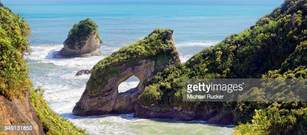 Ten Mile Arch at Greymouth Highway, Barrytown, West Coast, South Island, New Zealand