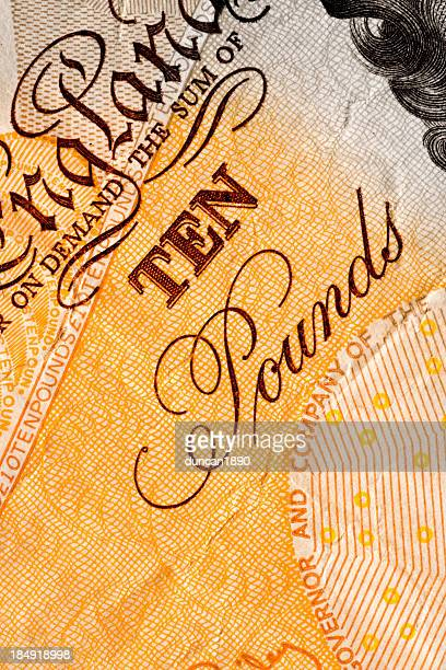 ten pounds - ten pound note stock photos and pictures