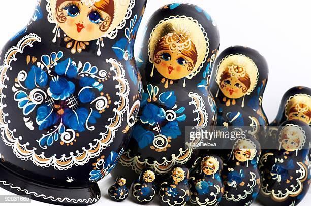 Ten Russian dolls