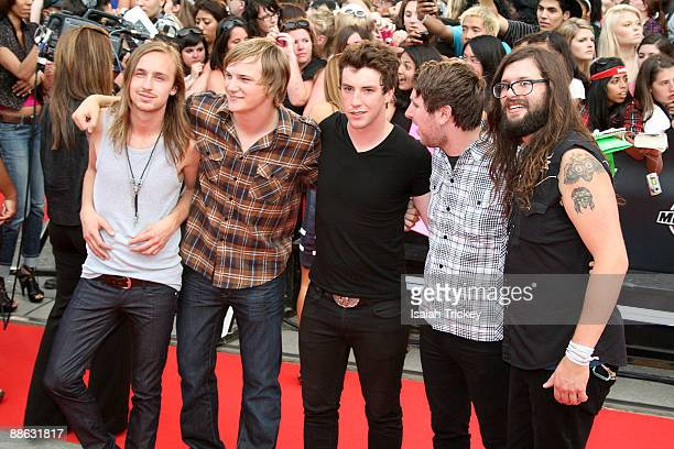 Ten Second Epic arrive at the MuchMusic Video Awards on June 21 2009 in Toronto Canada