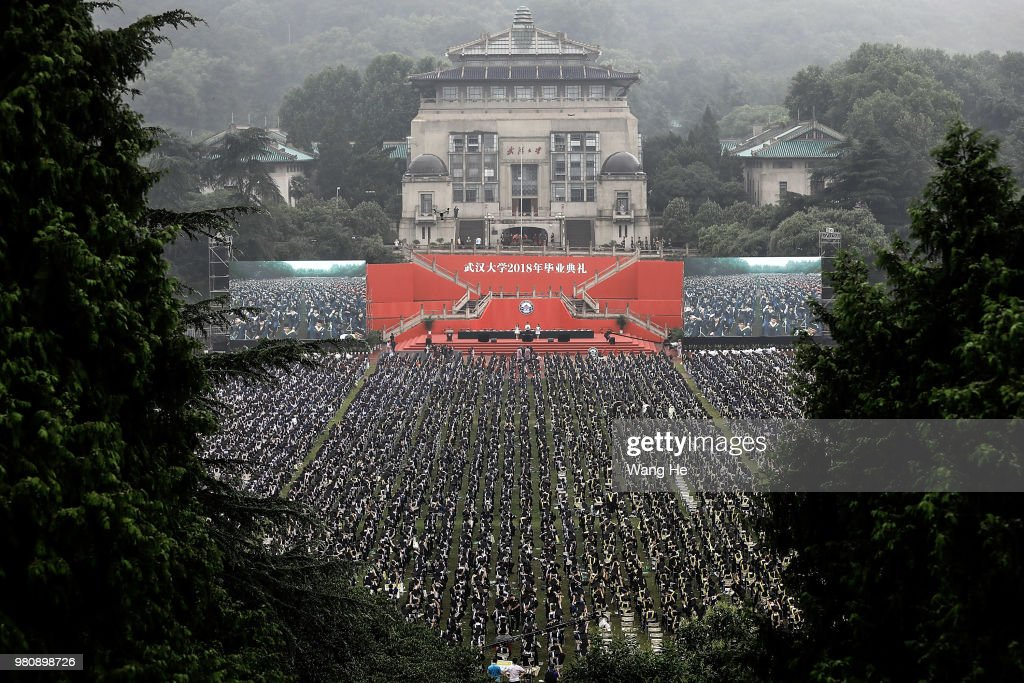 Thousands Of Chinese College Students Take Part In The Graduation Ceremony