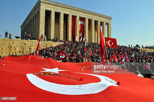 Ten thousands of people marched to the mausoleum of the Turkish Republics founder Mustafa Kemal Atatürk at he death anniversary