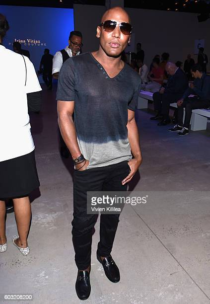 Ten Travis attends the Irina Vitjaz fashion show during New York Fashion Week The Shows September 2016 at The Gallery Skylight at Clarkson Sq on...