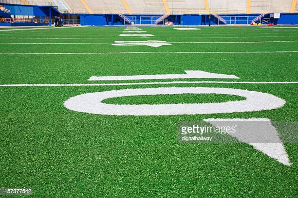 ten yard line - end zone stock pictures, royalty-free photos & images