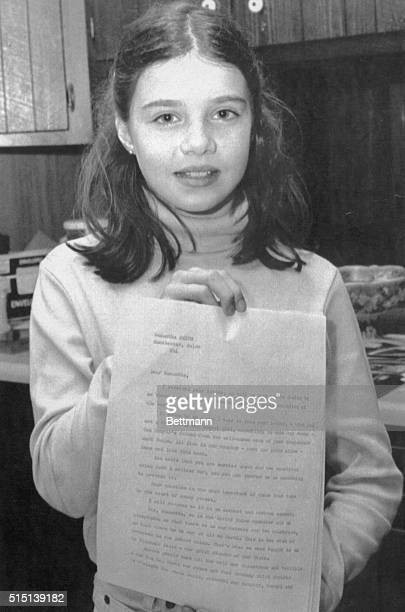 Ten year old Samantha Smith sent a letter earlier this year to Soviet leader Yuri Andropov pleading for an end to the arms race Monday morning she...