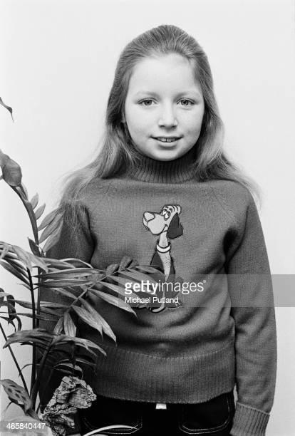 Ten year-old Scottish child singer Lena Zavaroni , London, 6th March 1974.