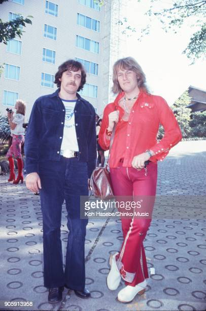 Ten Years After and Procol Harum near Tokyo Hilton Hotel May 1972 Tokyo Japan Alvin Lee Gary Brooker