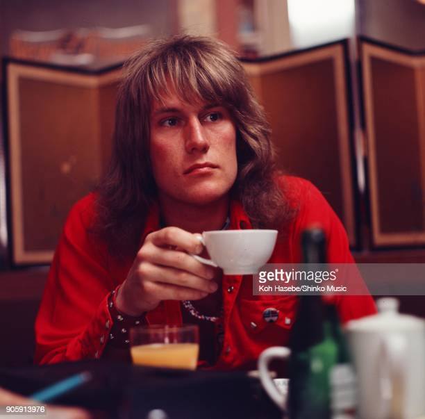 Ten Years After interviewed by Music Life magazine at a coffee shop May 1972 Tokyo Japan Alvin Lee