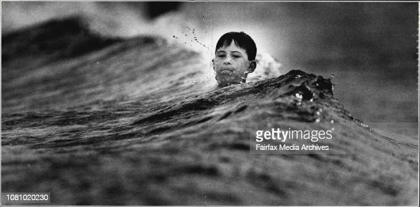 Ten years-old Ben Cabot from Wagga waits in vain for a wave at Coogee ... Traditionally a flat period, say surfers.Has the Pacific Ocean unsightly...