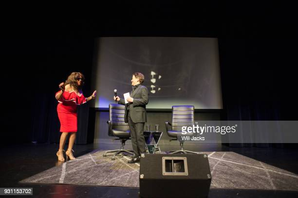 Tena Clark introduces Mary Wilson at GRAMMY Museum Mississippi on March 9 2018 in Cleveland Mississippi