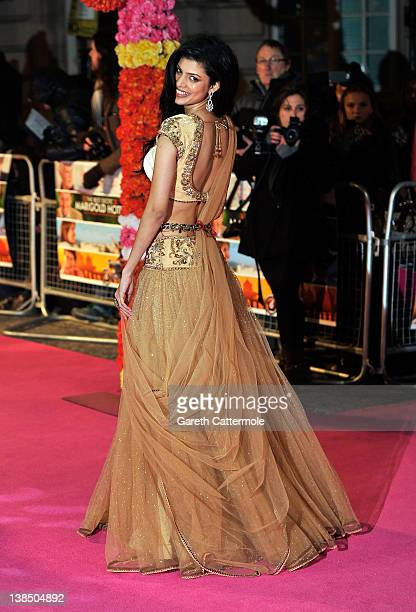 Tena Desae attends the World Premiere of 'The Best Exotic Marigold Hotel' at The Curzon Mayfair on February 7 2012 in London England