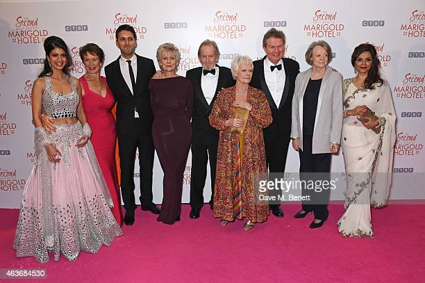 Tena Desae Celia Imrie Shazad Latif Diana Hardcastle Ronald Pickup Dame Judi Dench director John Madden Dame Maggie Smith and Lillete Dubey attend...
