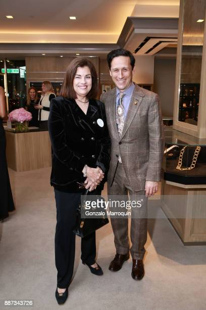 Tena Kavanagh and Benjamin Macklowe during the Macklowe Gallery Hosts 2018 Winter Antiques Show Kickoff Event at 445 Park Avenue on December 6 2017...