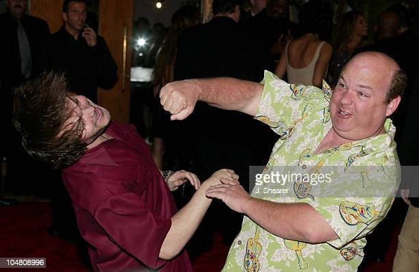 Tenacious D Jack Black and Kyle Gass during 44th GRAMMY Awards Sony Music Entertainment AfterParty at Morton's Restaurant in Beverly Hills California...