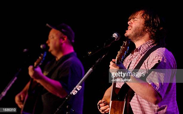Tenacious D singer and actor Jack Black performs at the 16th annunal Bridge School benefit concert October 26 2002 in Mountain View California
