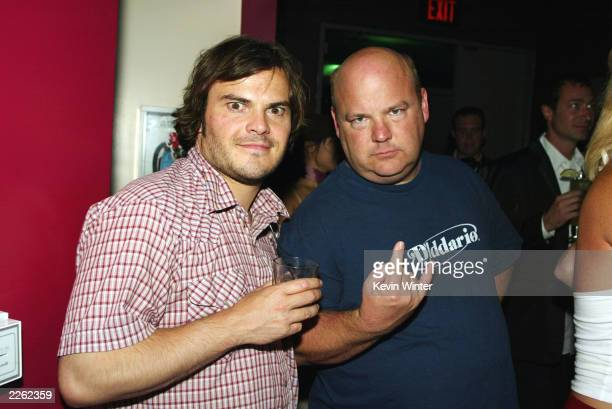 Tenacious D with Jack Black and Kyle Gass at a benefit for the Los Angeles Big Brothers and Big Sisters at Moomba West Hollywood Ca Monday Sept 9...