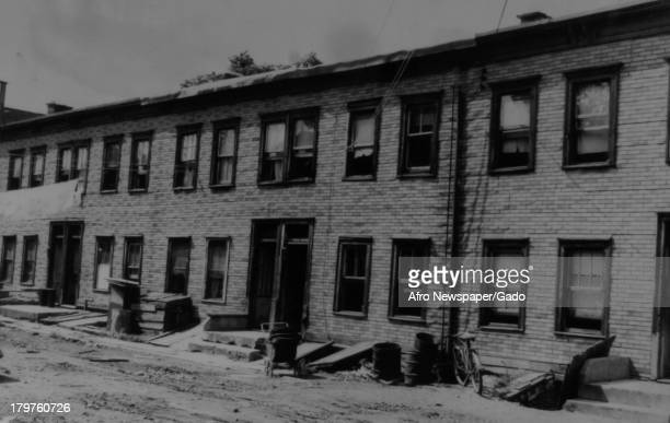 Tenants in these houses at 5 through 10 Nassau Pl must move within 10 days or face court penalties Newark New Jersey 1950 Owner James Bittaco was...