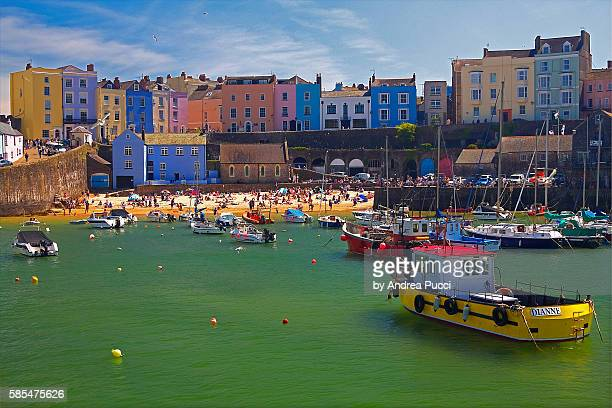 tenby, pembrokeshire, wales, united kingdom - wales stock pictures, royalty-free photos & images