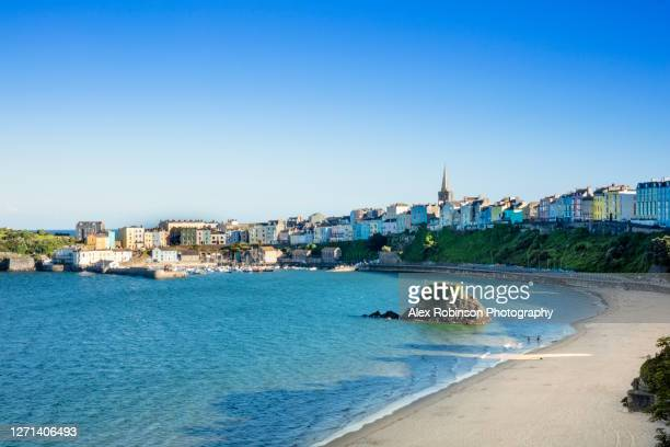 tenby town in wales - south wales stock pictures, royalty-free photos & images