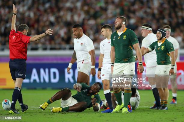 Tendai Mtawarira 2nd Lof South Africa during the Rugby World Cup 2019 Final between England and South Africa at International Stadium Yokohama on...