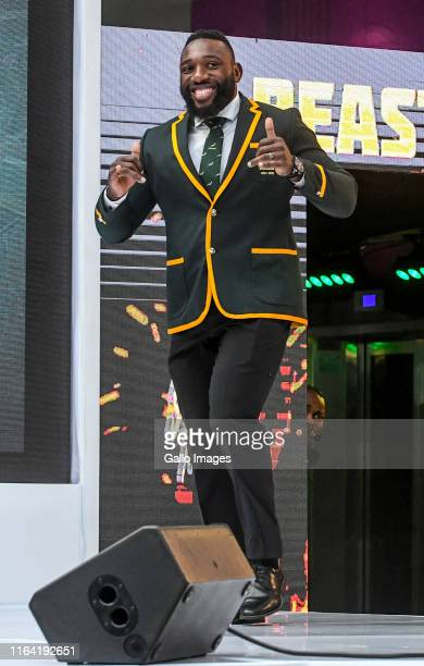 Tendai Mtawarira of South Africa during the Rugby World Cup 2019 squad announcement at Ulwazi Centre MultiChoice City on August 26 2019 in...