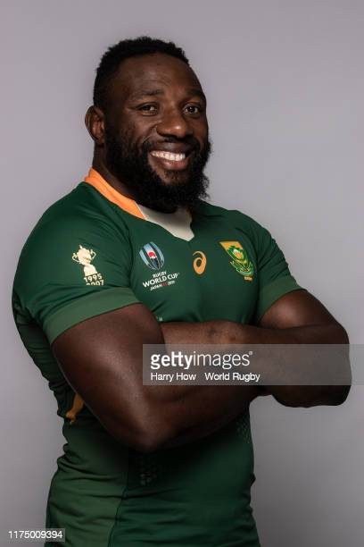Tendai Mtawarira of South Africa poses for a portrait during the South Africa Rugby World Cup 2019 squad photo call on September 15 2019 in Tokyo...