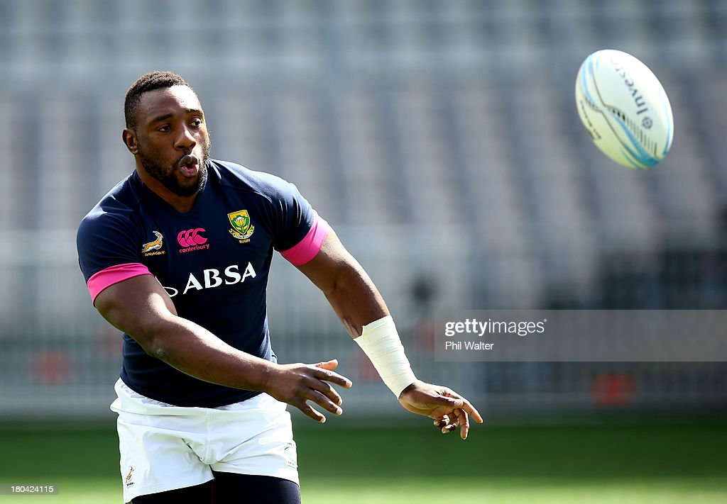 South Africa Springboks Captain's Run : News Photo